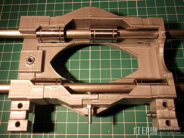 打印机X轴 挤出机 3D模型  图8