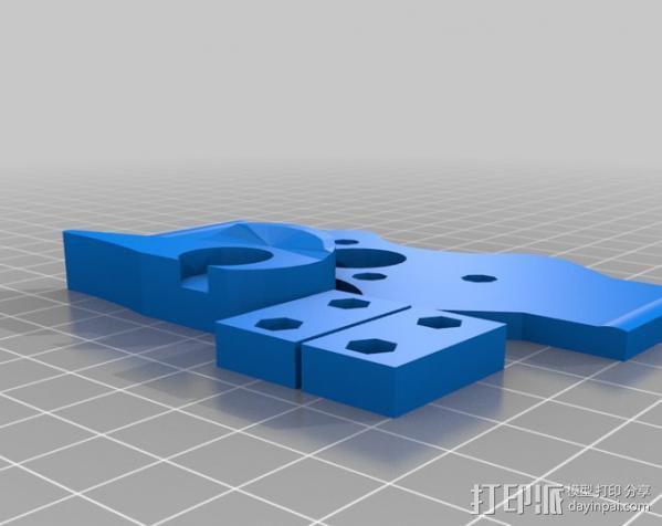 打印机X轴 挤出机 3D模型  图14