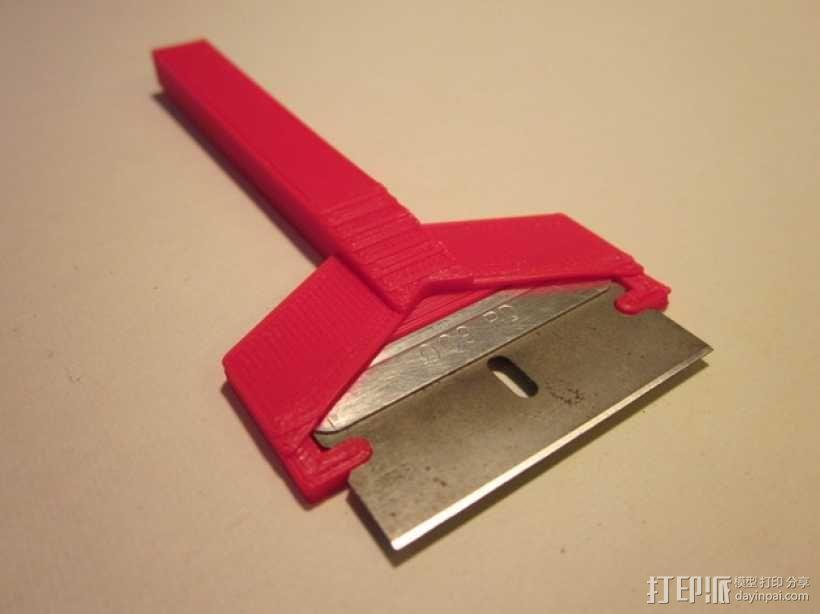 剃刀 刮刀 3D模型  图1