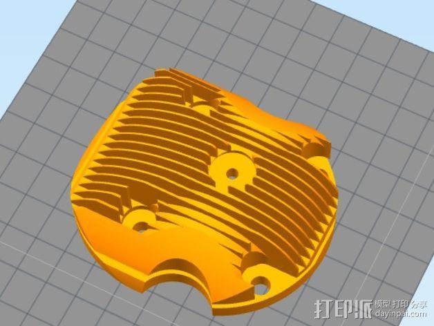 气缸盖 3D模型  图1