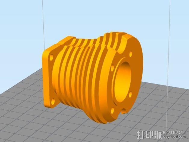 气缸盖 3D模型  图3