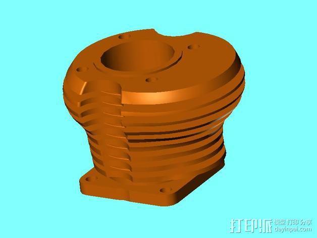气缸盖 3D模型  图4