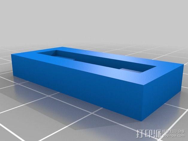 Mini Kossel打印机电路板保护座 3D模型  图3