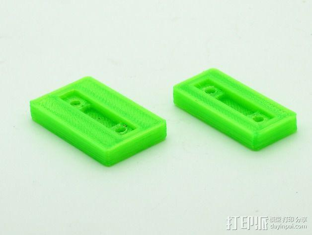 Mini Kossel打印机电路板保护座 3D模型  图4