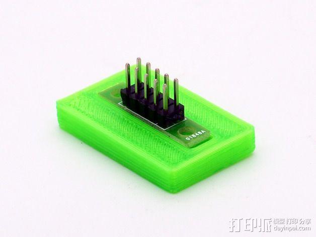 Mini Kossel打印机电路板保护座 3D模型  图6