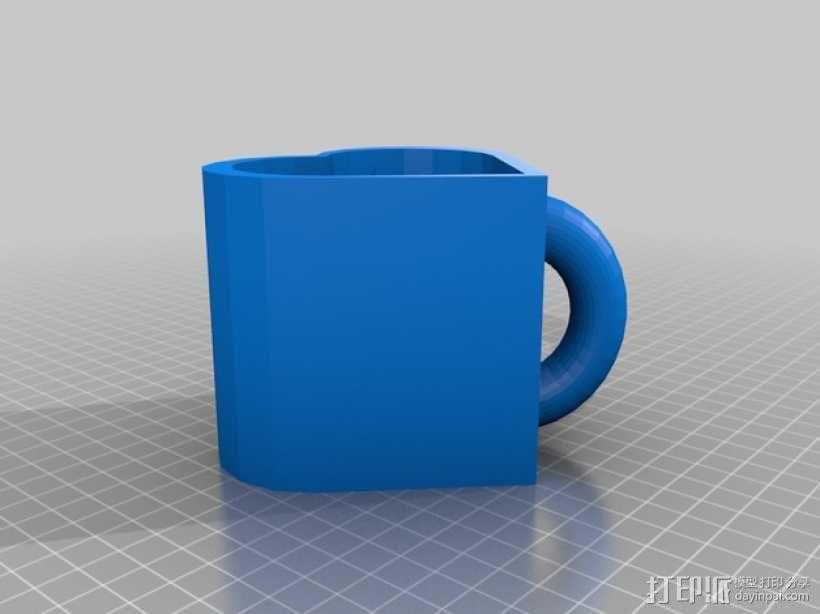 心形杯子 3D模型  图1