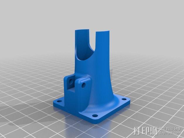 Prusa I3打印机风扇通风导管 3D模型  图2