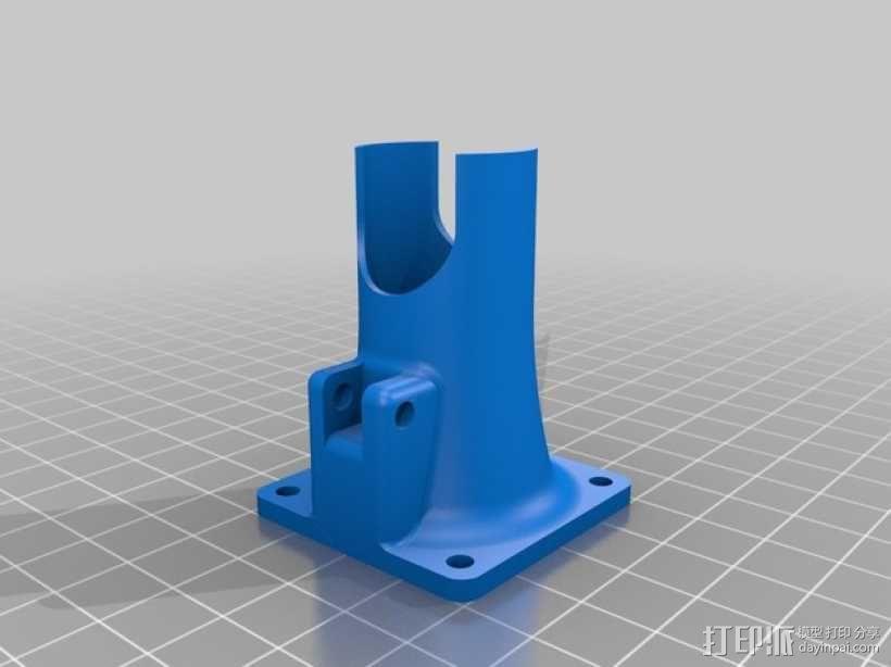 Prusa I3打印机风扇通风导管 3D模型  图1