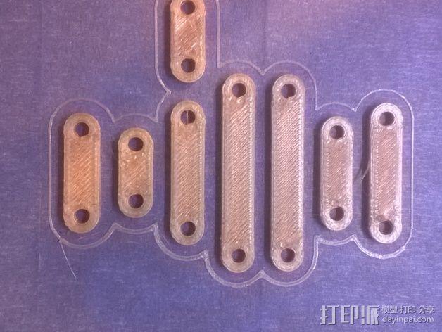 打印机制冷装置支管架 3D模型  图1