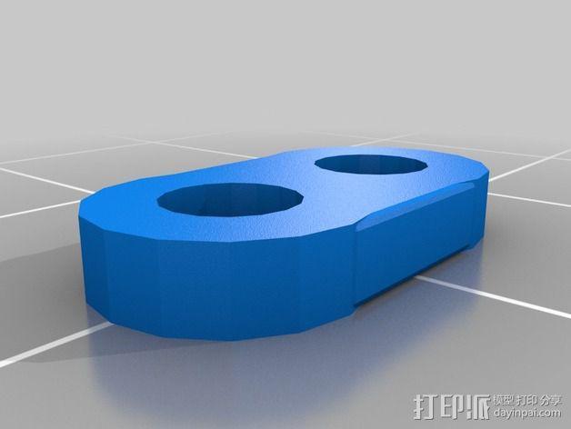 打印机制冷装置支管架 3D模型  图2