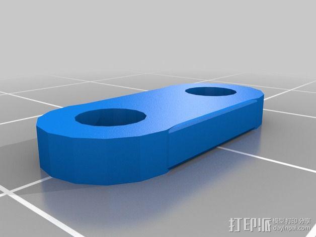 打印机制冷装置支管架 3D模型  图4
