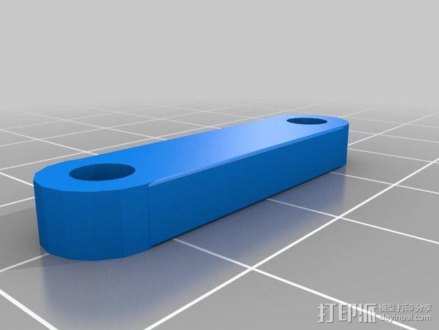 打印机制冷装置支管架 3D模型  图5