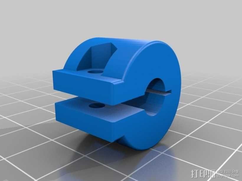 打印机Z轴联轴器 3D模型  图2