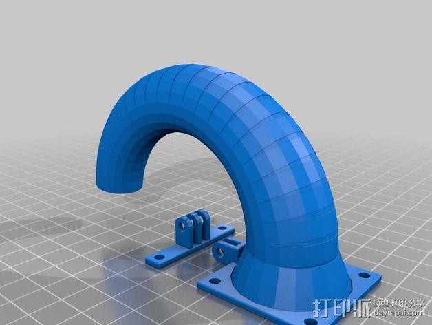 可活动的通风导管 3D模型  图2