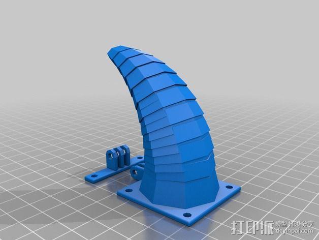 可活动的通风导管 3D模型  图4