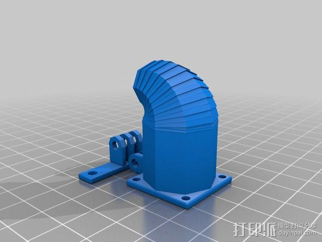 可活动的通风导管 3D模型  图5