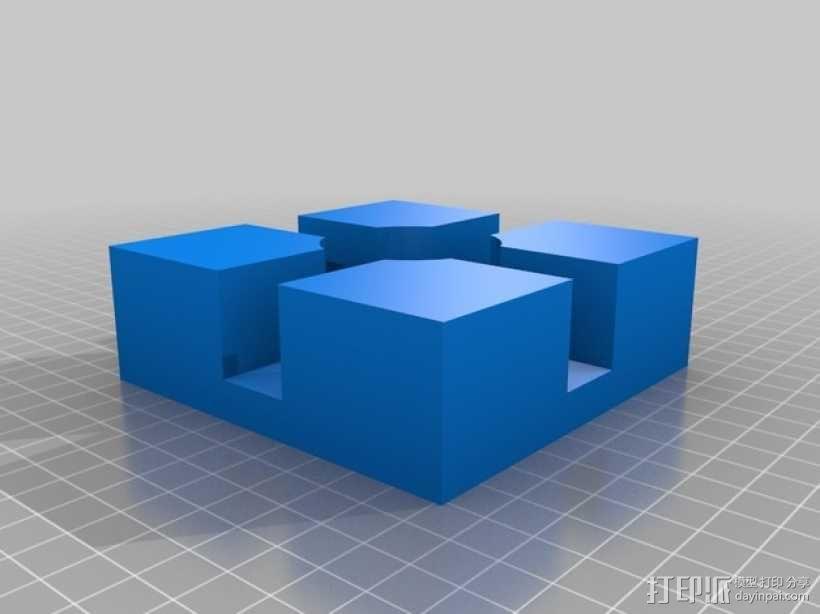 打印机边角固定器 3D模型  图1