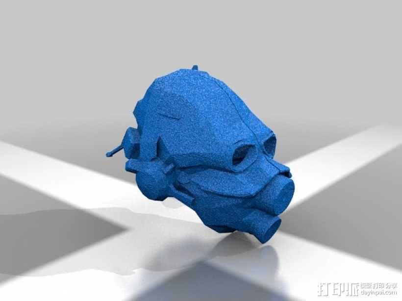 光晕 防毒面罩 3D模型  图1