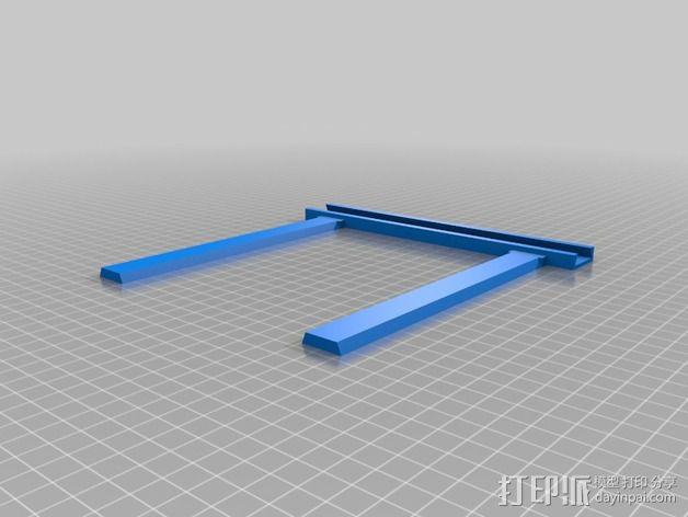 打印机手机支架 3D模型  图3