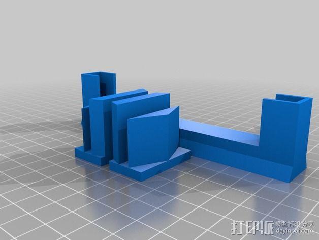 打印机手机支架 3D模型  图2