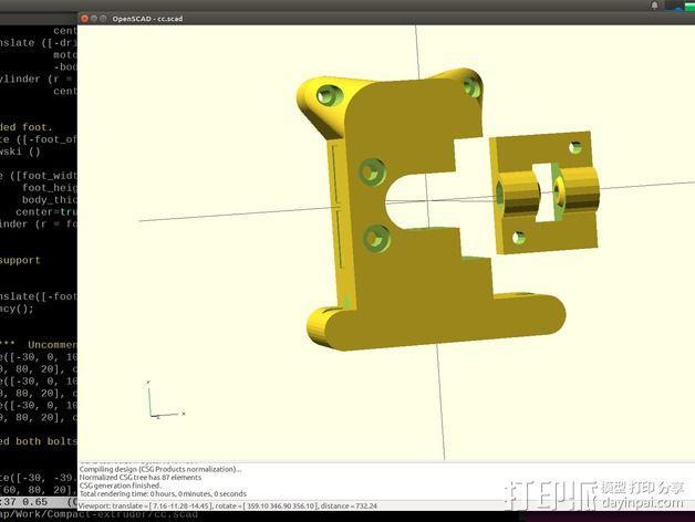 Prusa i3挤出机 3D模型  图3