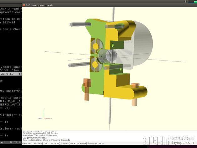 Prusa i3挤出机 3D模型  图4