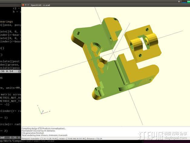 Prusa i3挤出机 3D模型  图6