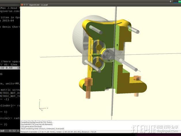 Prusa i3挤出机 3D模型  图7