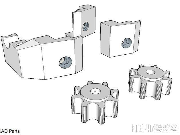 玻璃固定夹 3D模型  图8