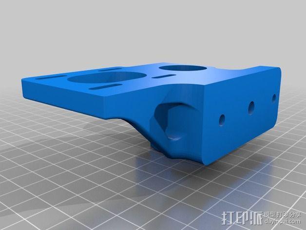 皮带驱动挤出机 3D模型  图2