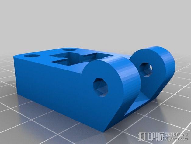 皮带驱动挤出机 3D模型  图3