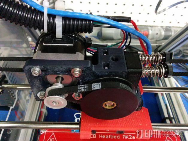 皮带驱动挤出机 3D模型  图7