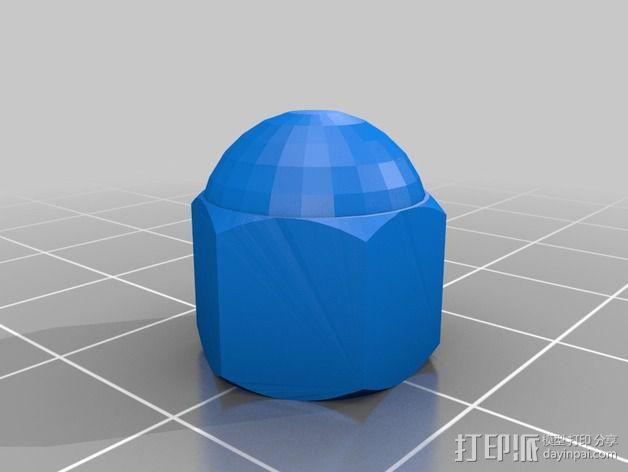 通用型线轴架 3D模型  图2