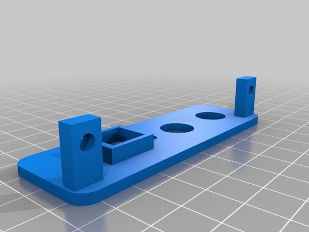 Kossel mini打印机仪表板 3D模型  图2