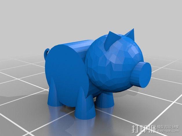 小猪 3D模型  图1