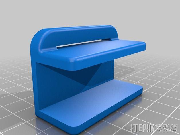 Rigidbot打印机刮刀架 3D模型  图2