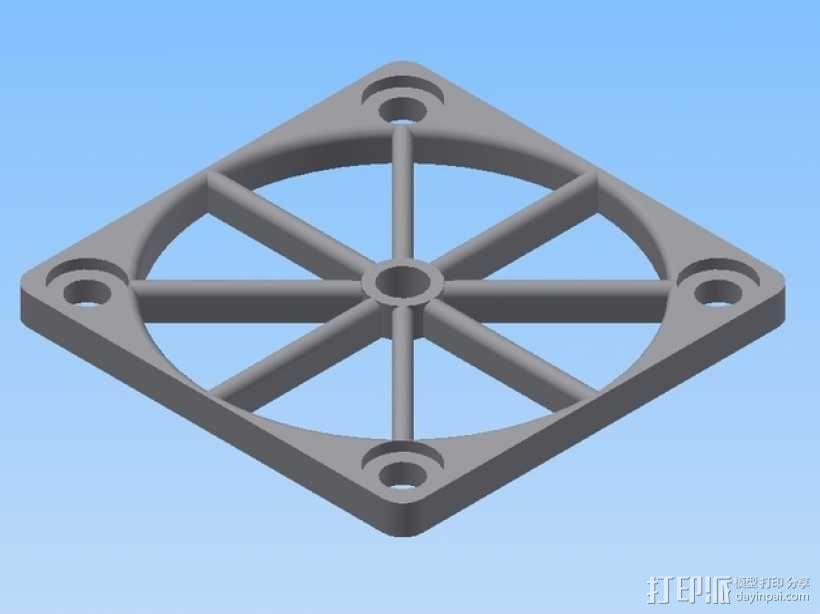 风扇架 3D模型  图1