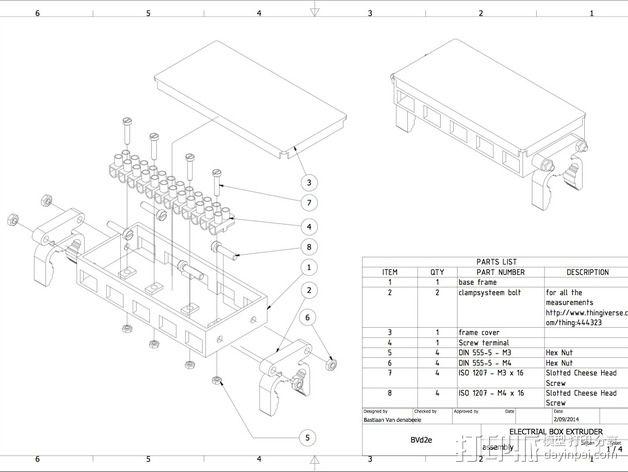 挤出机电箱 3D模型  图2