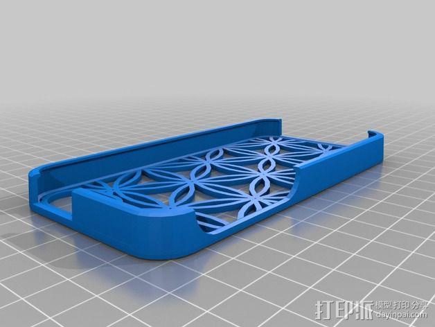 生命之花IPhone 5手机外壳 3D模型  图2