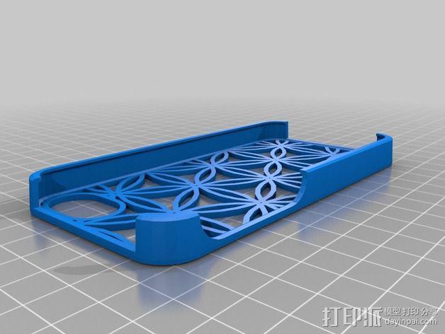 生命之花IPhone 5手机外壳 3D模型  图3