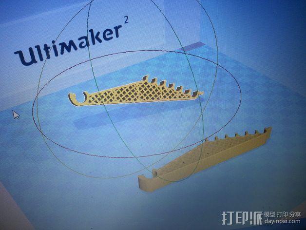 打印机轴调节器 3D模型  图1