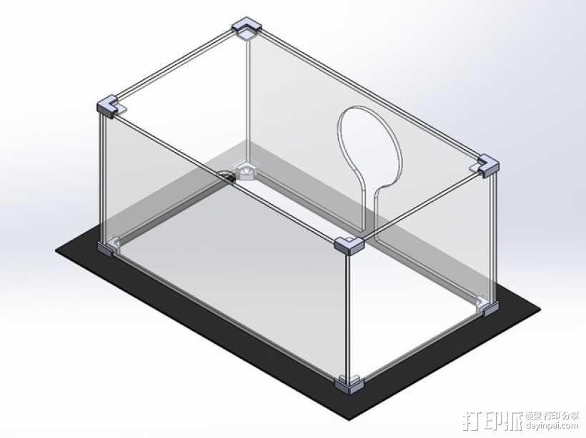 Makerbot replicator 2打印机保护框 3D模型  图1
