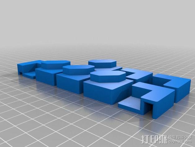 Makerbot replicator 2打印机保护框 3D模型  图5