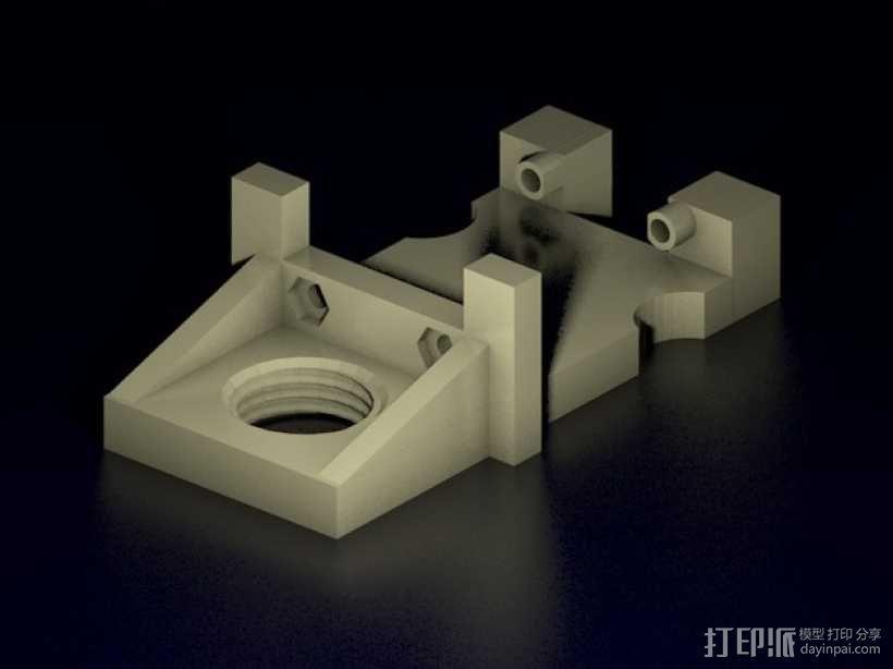 Solidoodle 2打印机工具架 3D模型  图1