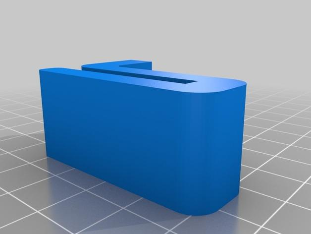 Leapfrog Creatr玻璃板固定器 3D模型  图3