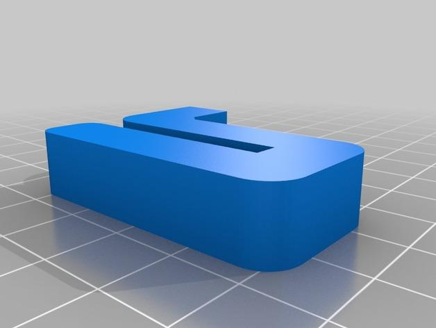 Leapfrog Creatr玻璃板固定器 3D模型  图4
