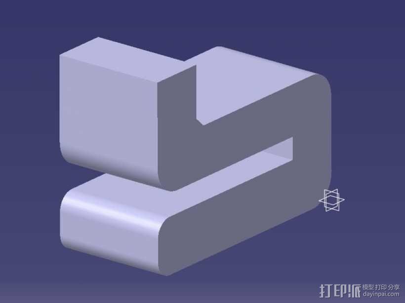 Leapfrog Creatr玻璃板固定器 3D模型  图1