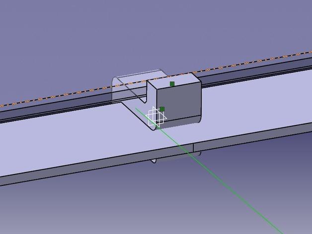 Leapfrog Creatr玻璃板固定器 3D模型  图6