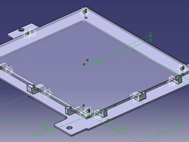 Leapfrog Creatr玻璃板固定器 3D模型  图7
