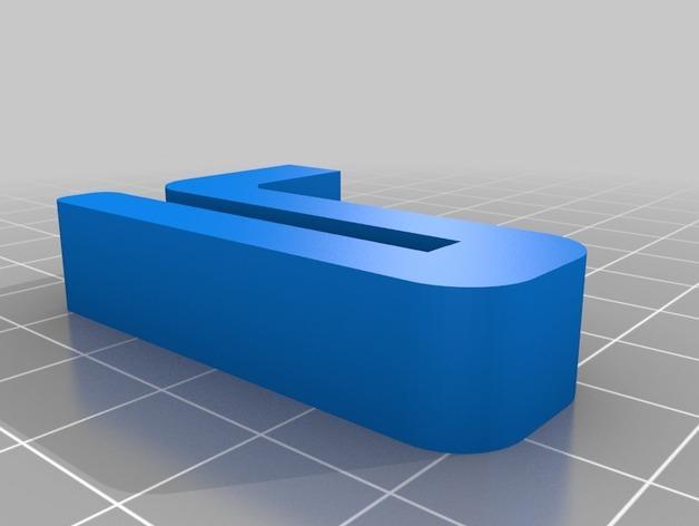 Leapfrog Creatr玻璃板固定器 3D模型  图5
